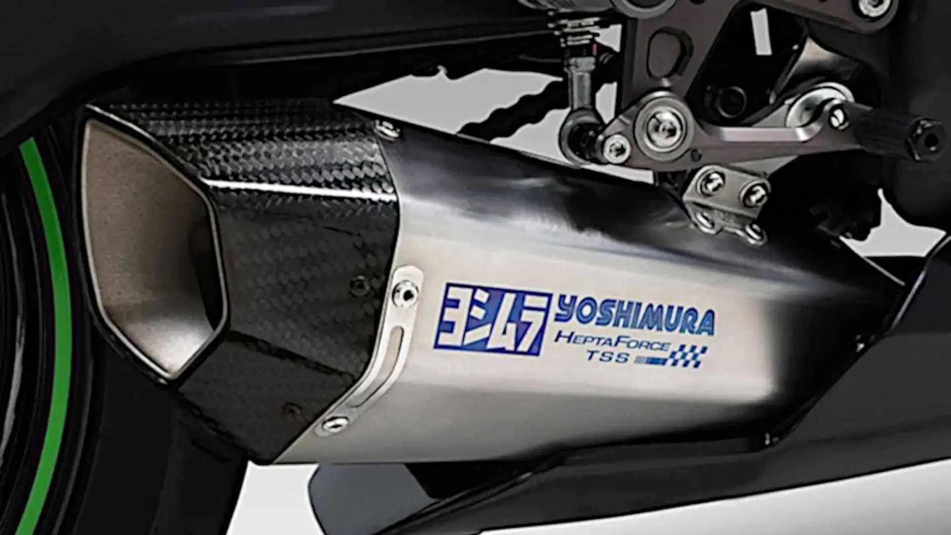 Yoshimura Hepta Force TSS Exhaust for Kawasaki ZX-25R - Stainless Steel Silencer