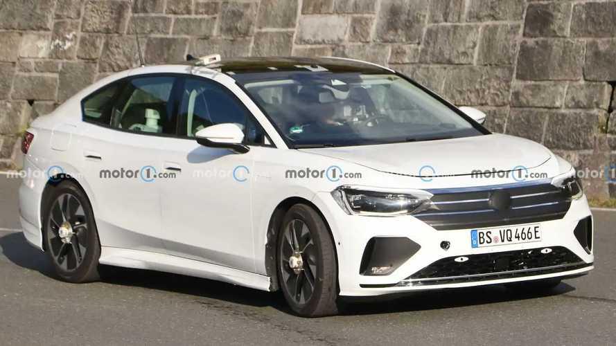 Volkswagen Aero B EV Saloon New Spy Photos