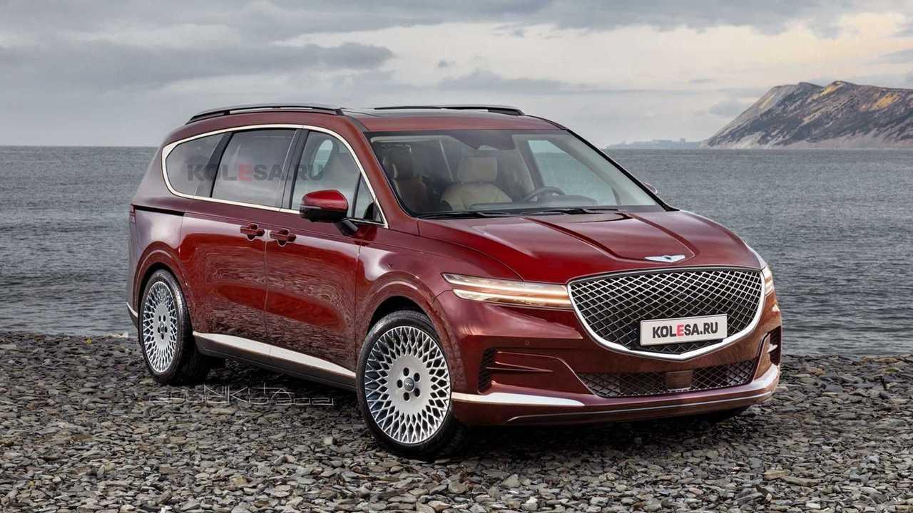 Genesis luxury minivan rendering
