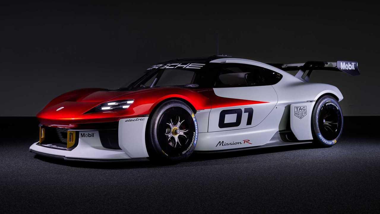 Der Porsche Mission R zeigt auf der IAA wie ein elektrisches Kundensport-Auto der Zukunft aussehen soll.