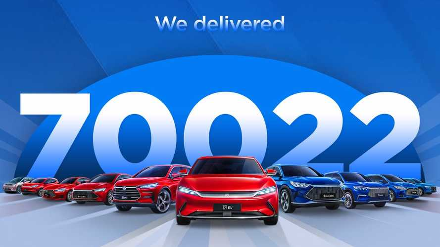China: BYD Sold 70,000 Plug-In Cars In September 2021