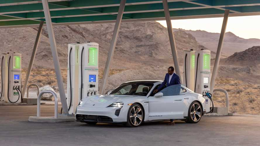 Porsche Taycan Turbo S With BTTF DeLorean