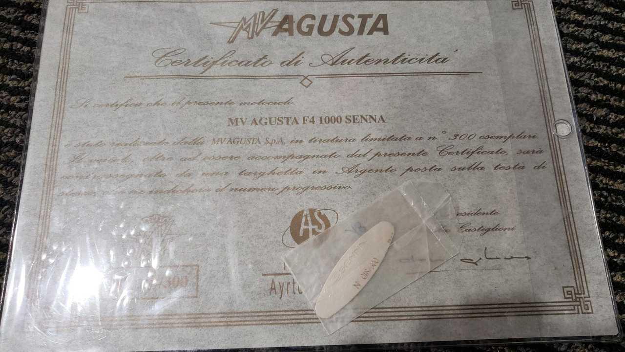 2007 MV Agusta Ayrton Senna number 18 out of 300