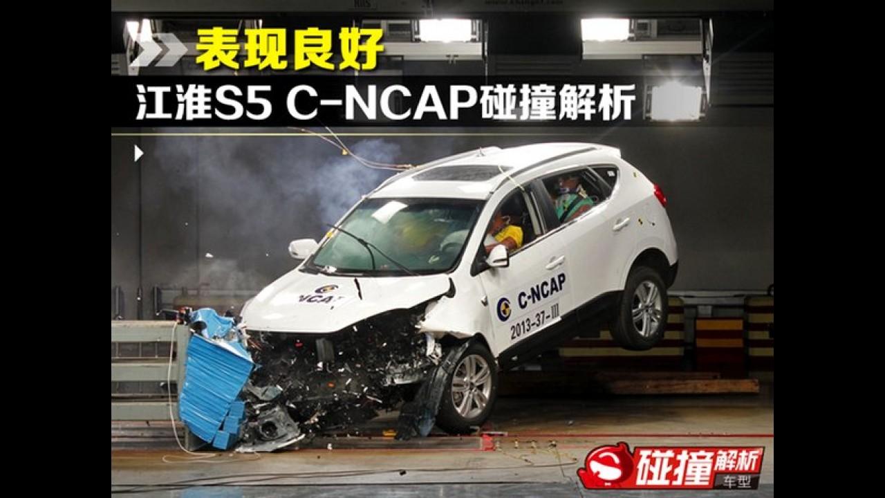 Novo JAC T6 recebe cinco estrelas em crash test na China