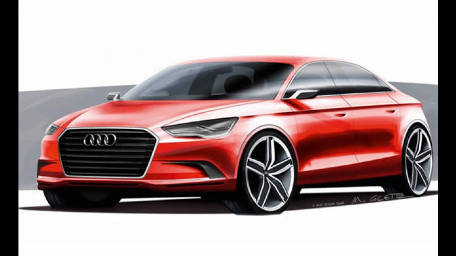 "Audi divulga desenhos do A3 Sedan ""Concept"""