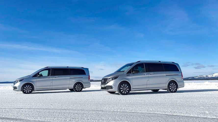 Mercedes-Benz EQV winter testing inside the Arctic Circle