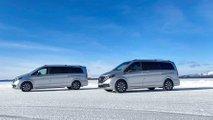 Mercedes-Benz EQV winter testing inside the Arctic Circle