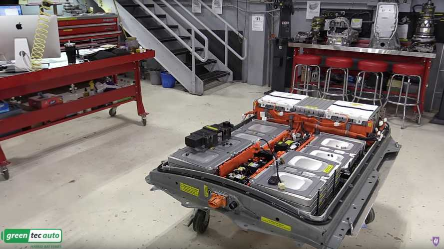 See a 2011 Nissan LEAF battery dissected professionally