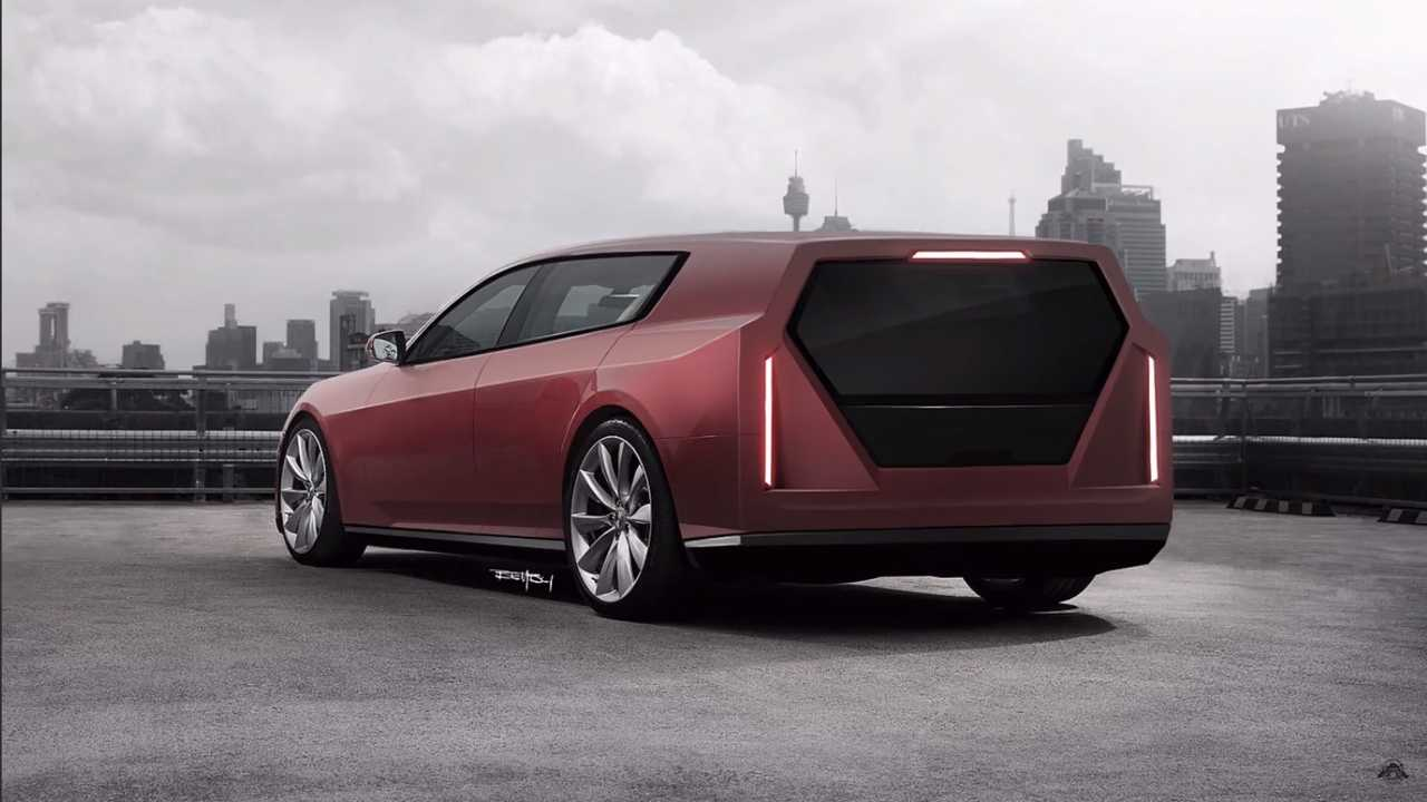Tesla Model S 'Cyberwagon' Rendering Proves Its Hip To Be Square