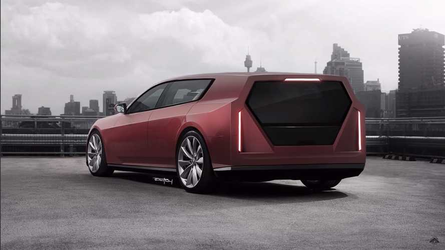 Tesla Cyberwagon Rendering Screenshots