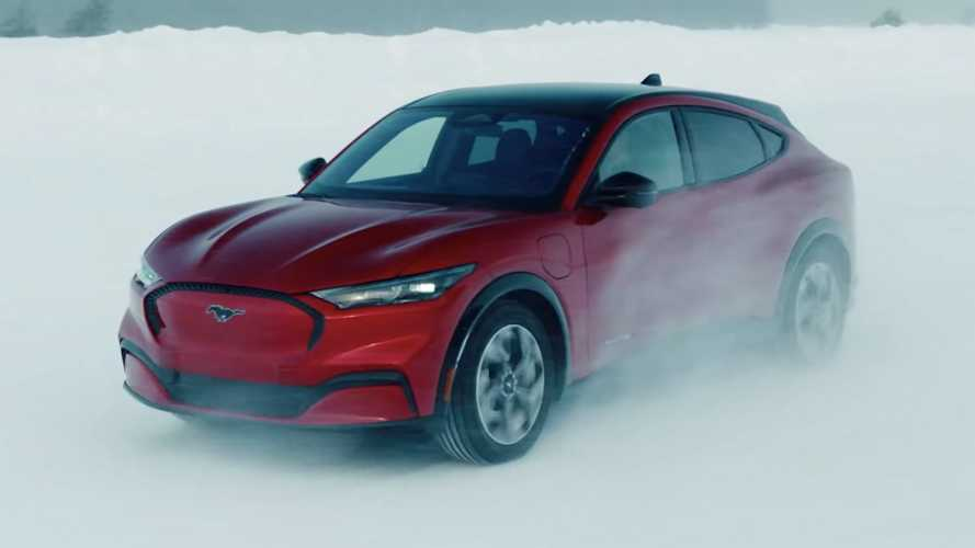 Watch A 2021 Ford Mustang Mach-E Drift Through The Snow