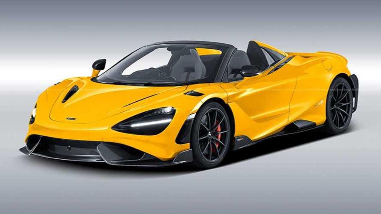 McLaren 765LT Spider rendering