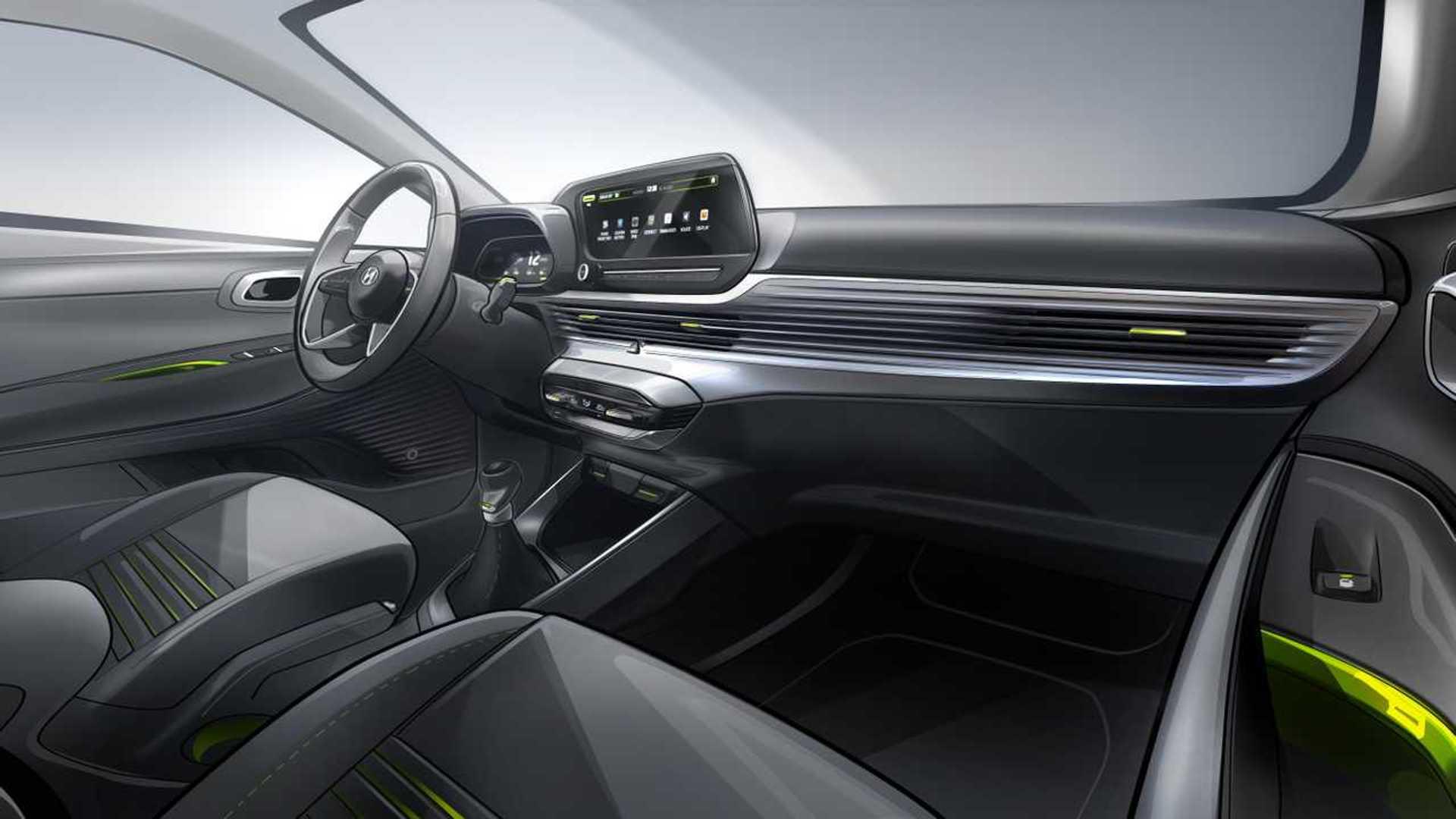 Hyundai I20 Interior Sketch Motor1 Com Photos