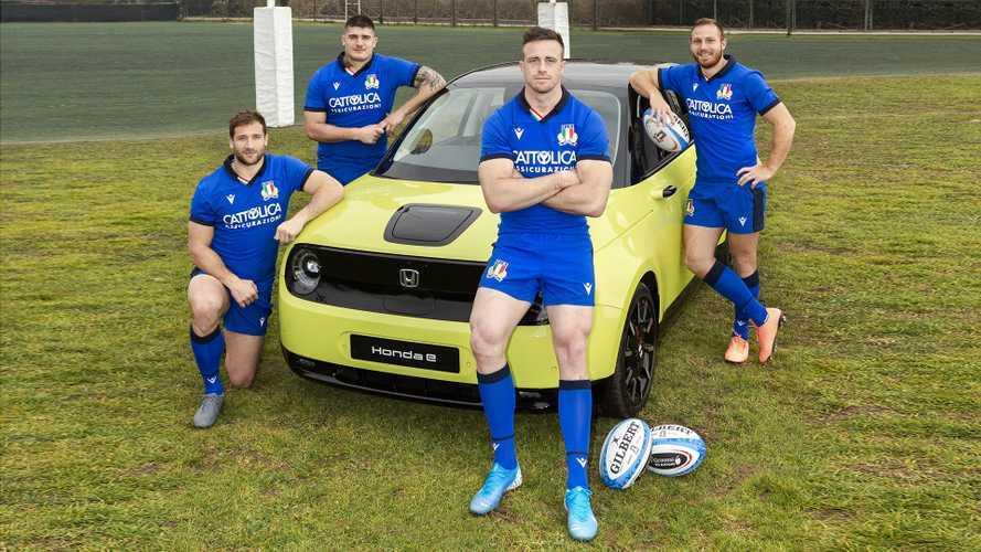 Honda e, il debutto in Italia è al 6 Nazioni di Rugby
