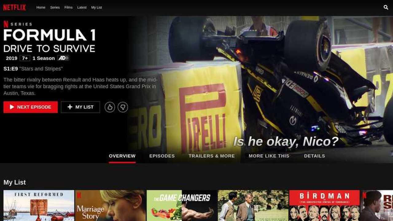 Netflix Formula 1 Drive to Survive screenshot