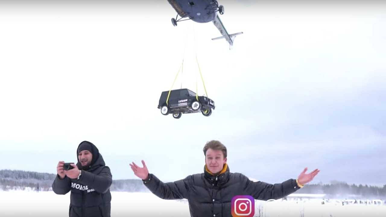 Mercedes-AMG G63 Dropped From A Helicopter