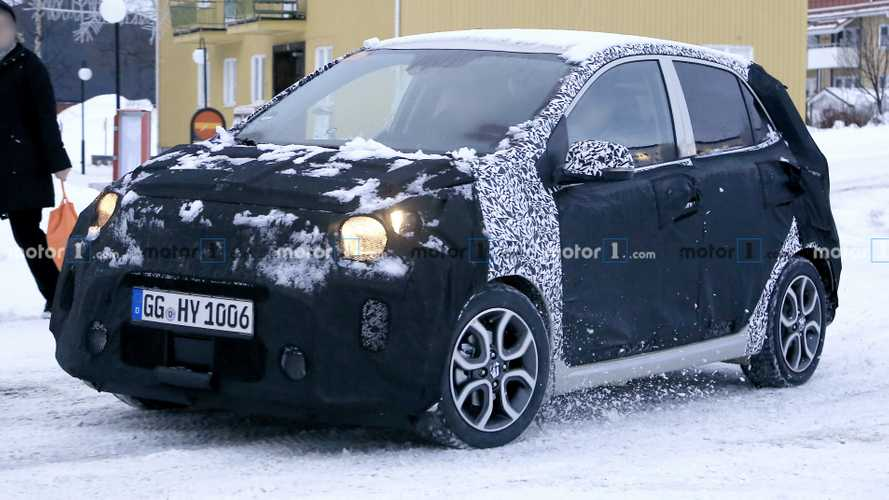 Kia Picanto facelift spied hiding under heavy camouflage