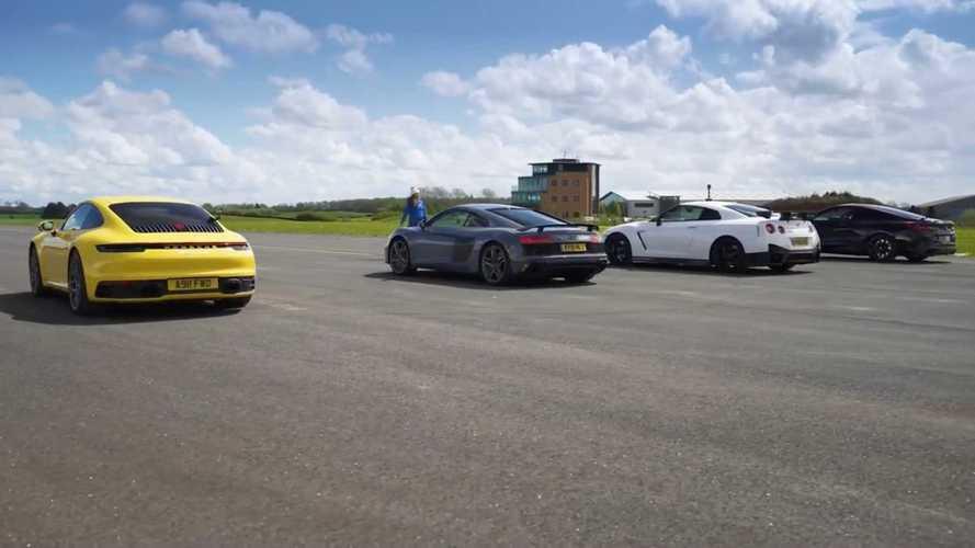 Nissan GT-R Nismo, Audi R8, BMW M850i ve Porsche 911 yarışıyor