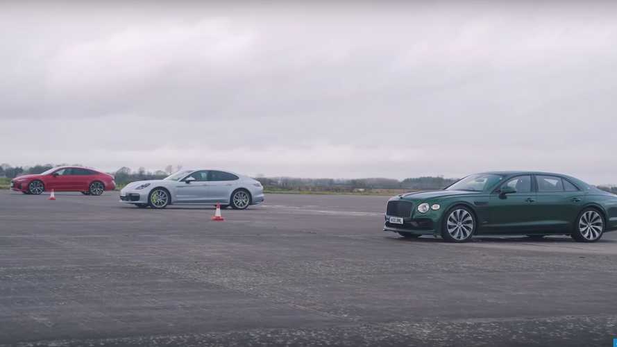 See Flying Spur Drag Race Panamera And Audi RS7