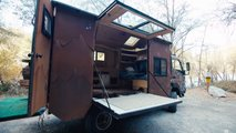 custom mitsubishi fuso camper video
