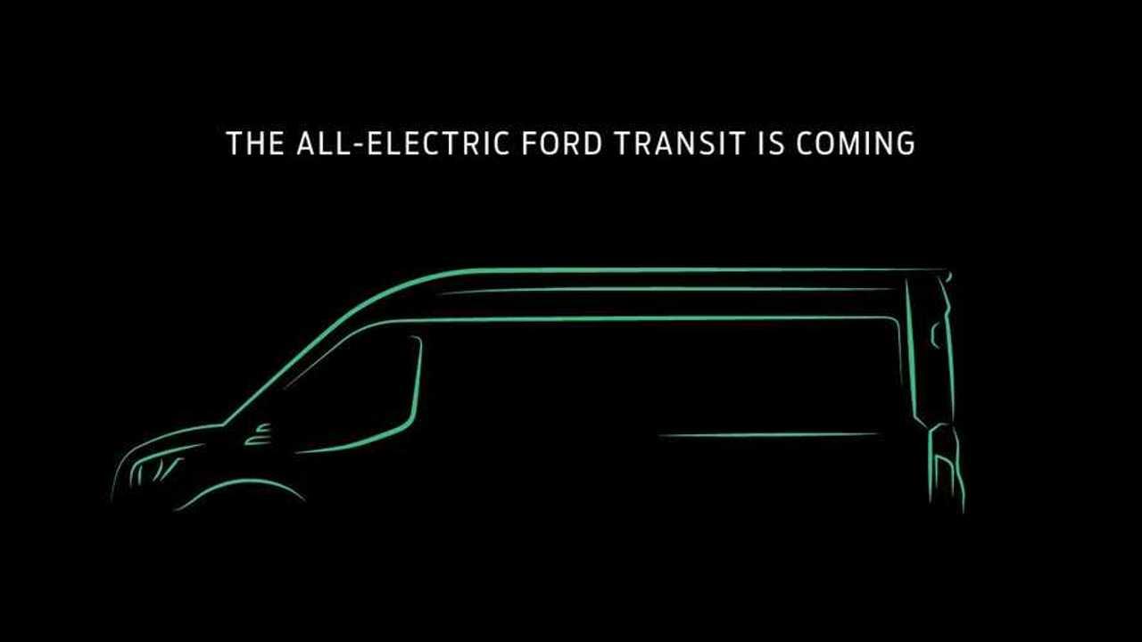 2022 Ford Transit EV teaser image