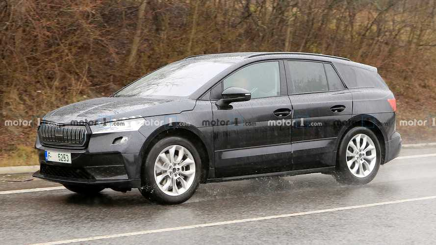 2021 Skoda Enyaq with production body spied inside and out