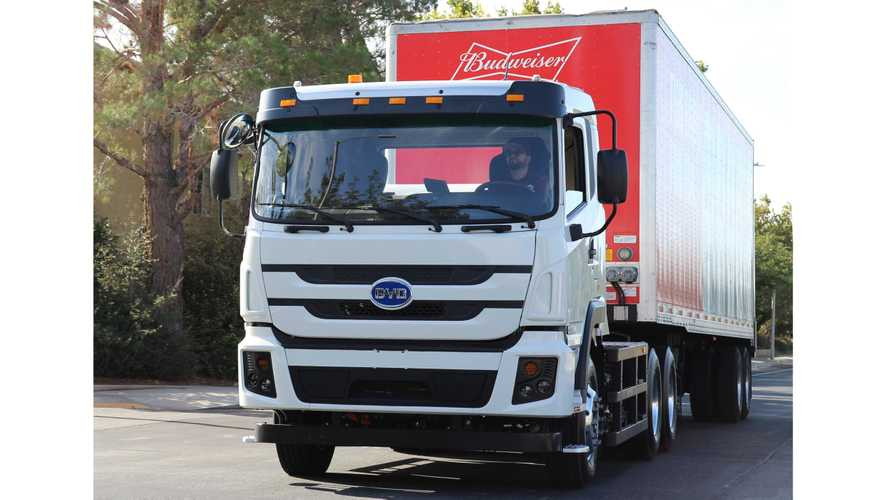 BYD Delivers 100th All-Electric Truck In The U.S.