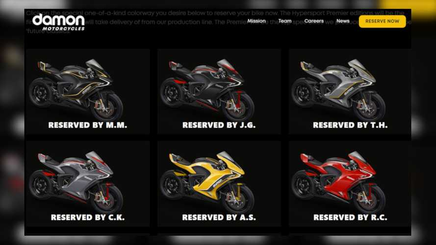 The Damon Motorcycles Hypersport Premier Sold Out In Four Days