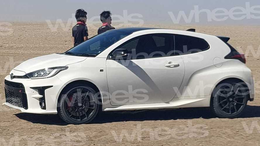 2020 Toyota GR Yaris spied without any camouflage whatsoever