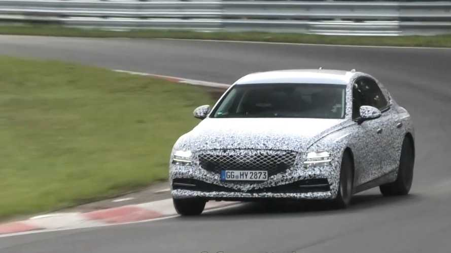 2020 Genesis G80 Spied At The Nurburgring