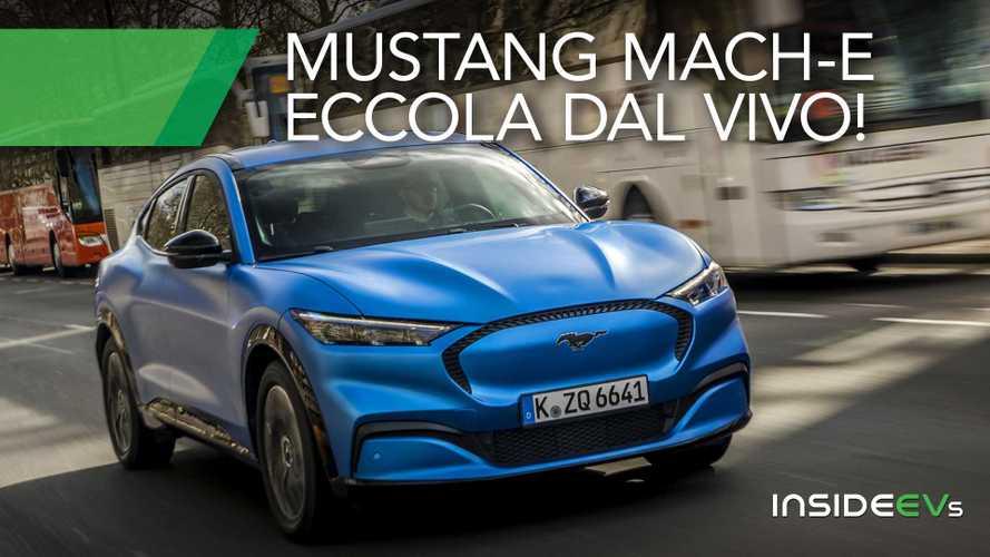 Mustang Mach-e, ecco com'è dal vivo l'elettrica Ford