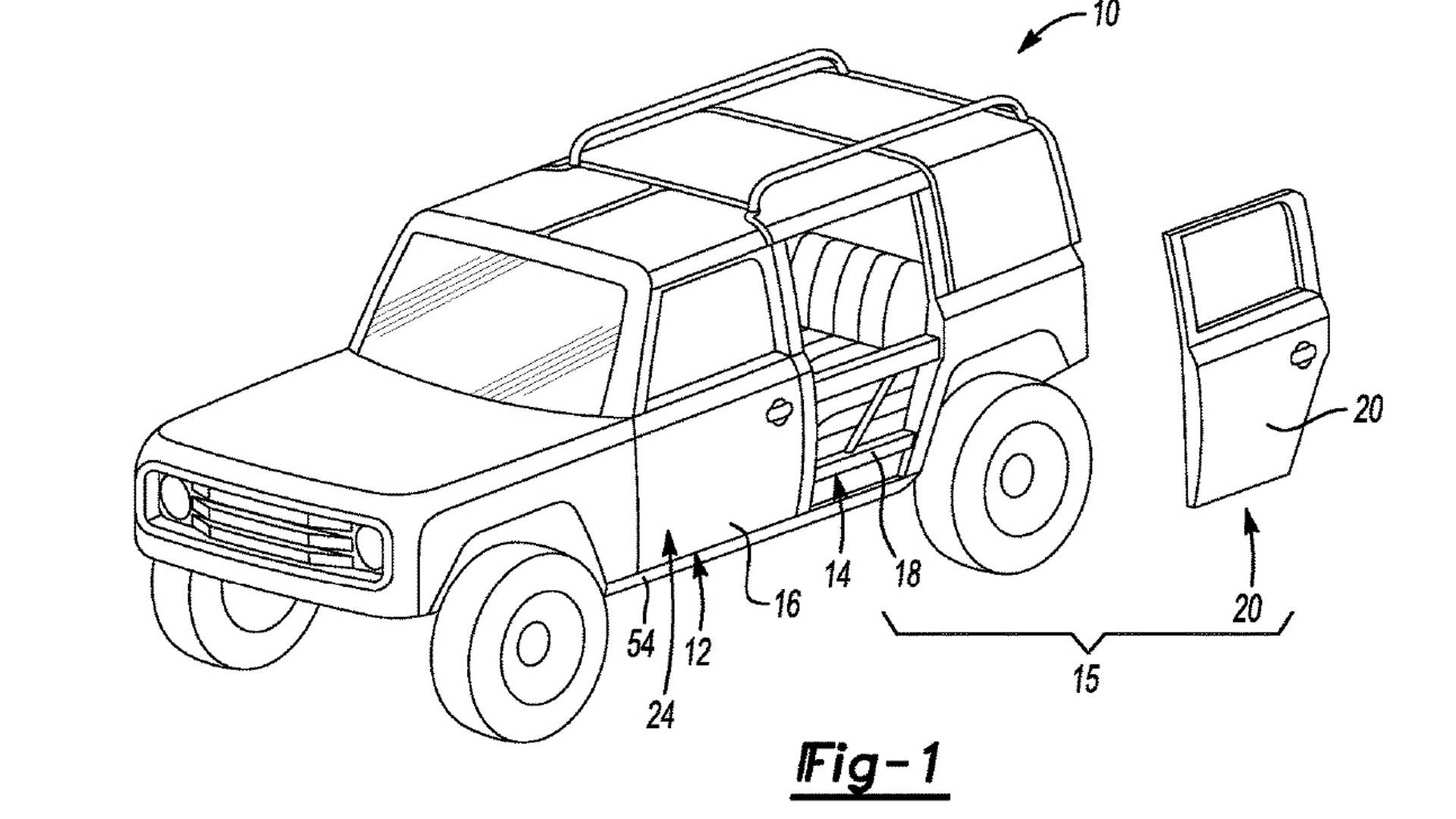 Image result for ford bronco door patent