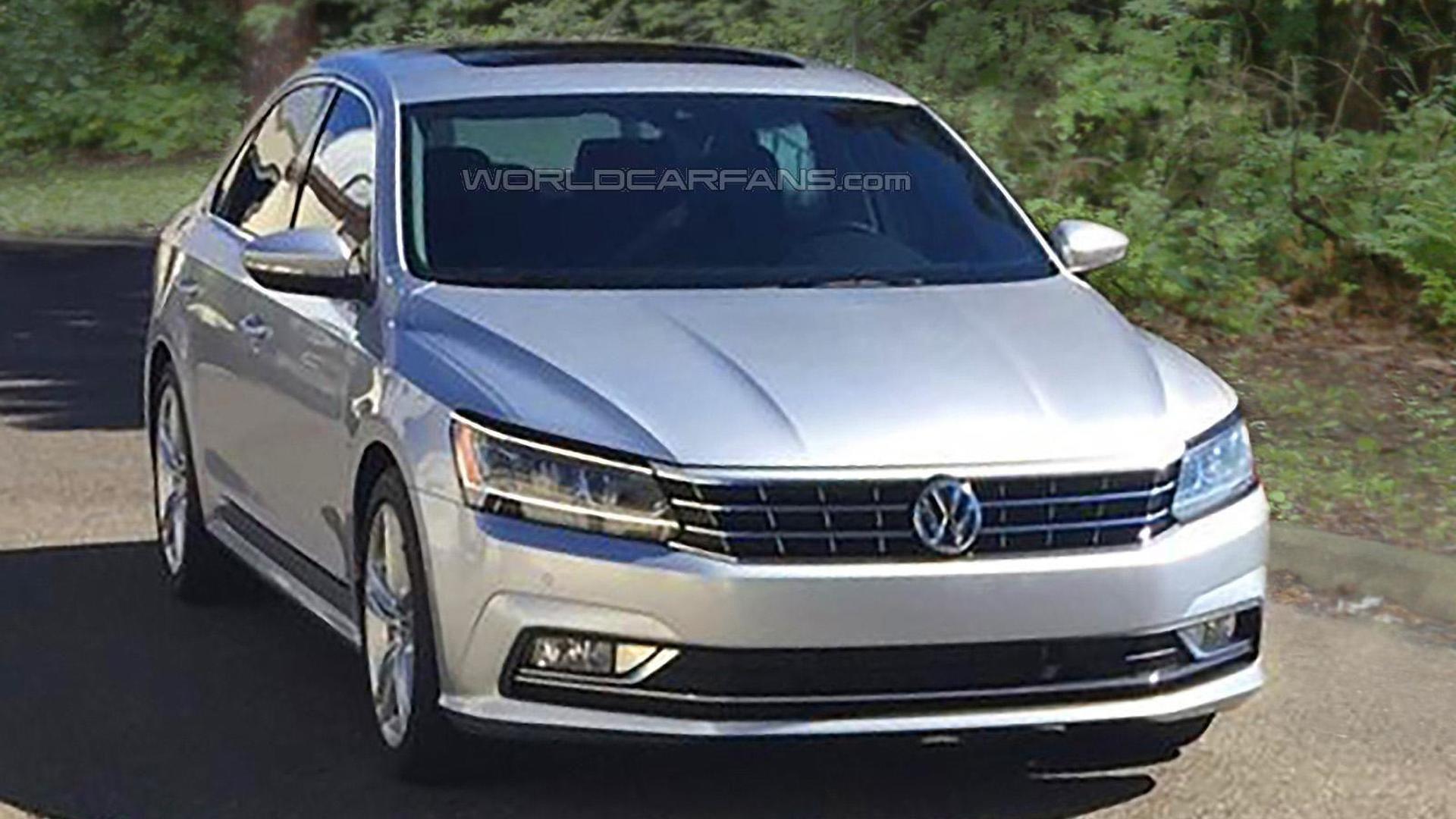 2016 Volkswagen Passat Us Spec Facelift Spied Undisguised During Photo Shoot