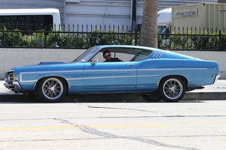 Aaron Paul Drives His Ford Torino Around LA Like A Boss