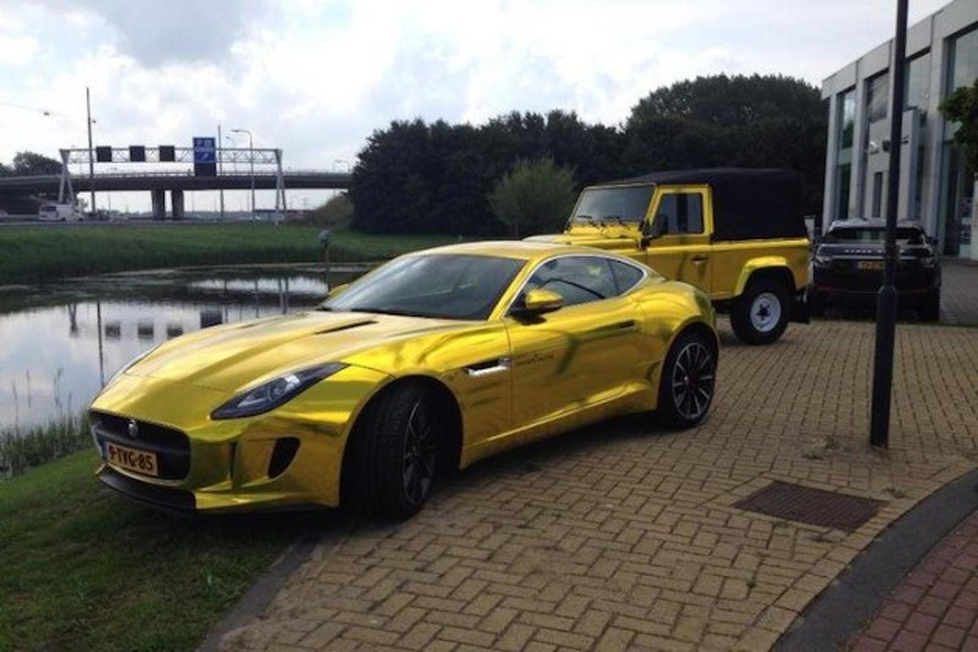 Terrible Gold Chrome Jaguar F Type Meets Terrible Gold Chrome Land