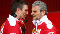 ames Allison, Ferrari Chassis Technical Director with Maurizio Arrivabene, Ferrari Team Principal