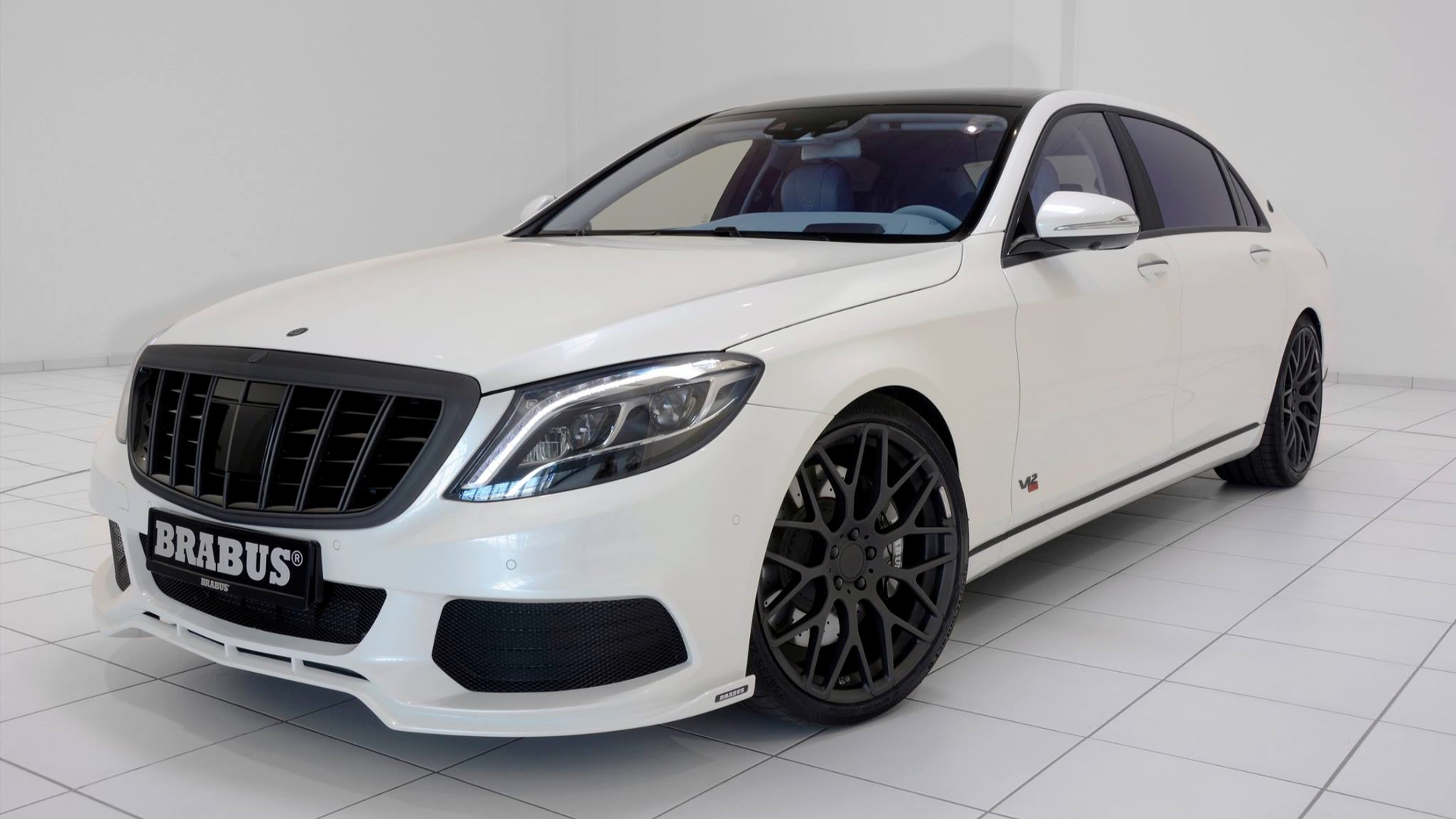 900 hp brabus maybach s600 shown in white with blue leather lovely