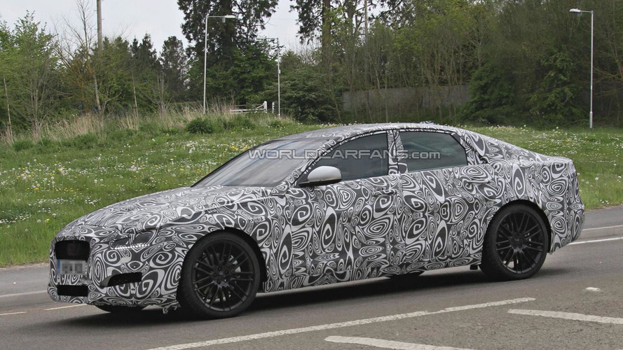 Second-generation Jaguar XF spied for first time