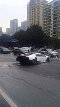Lamborghini Murcielago SuperVeloce accident in Shenzhen