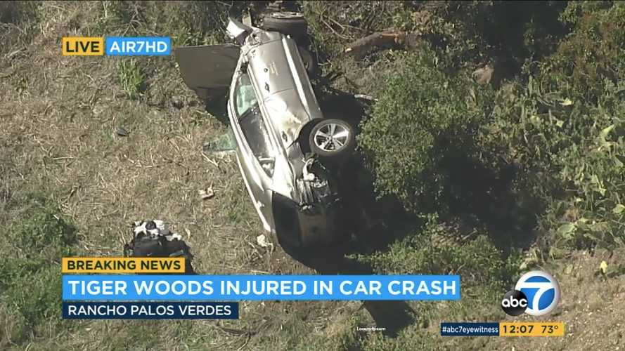 Tiger Woods hospitalised after Genesis GV80 rollover in California