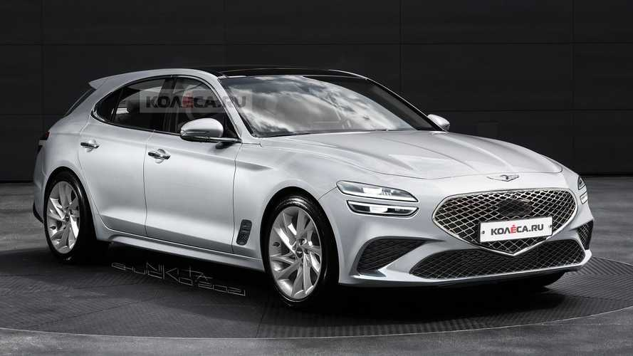 Genesis G70 Wagon Rendered After Teaser Photos
