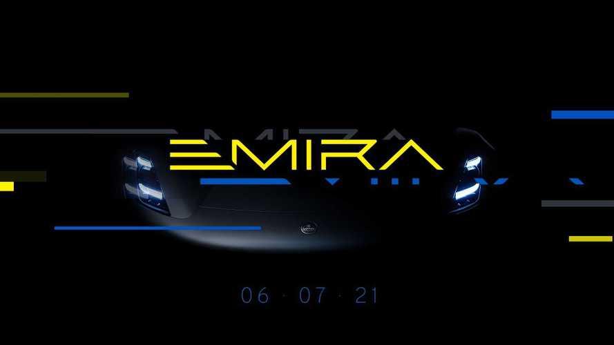 Lotus Emira, le immagini teaser