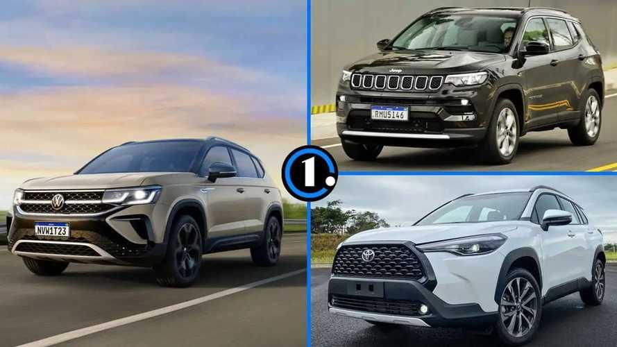 VW Taos: como ele se compara aos rivais Compass e Corolla Cross