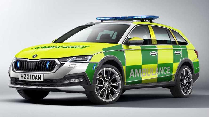 Skoda Octavia Scout: así son las nuevas ambulancias británicas