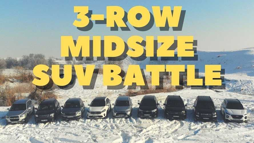 Watch 9 Three-Row SUVs Battle In Snowy Off-Road Test