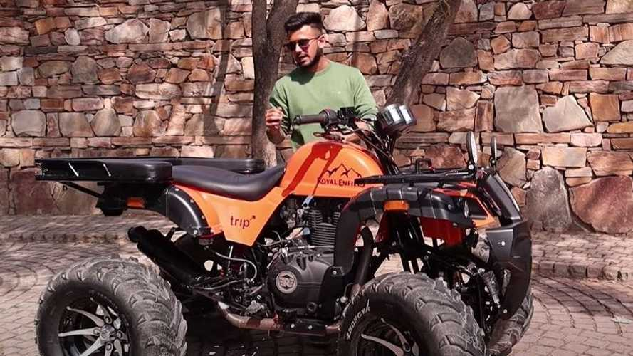This Custom-Built ATV Is A Royal Enfield Himalayan Underneath