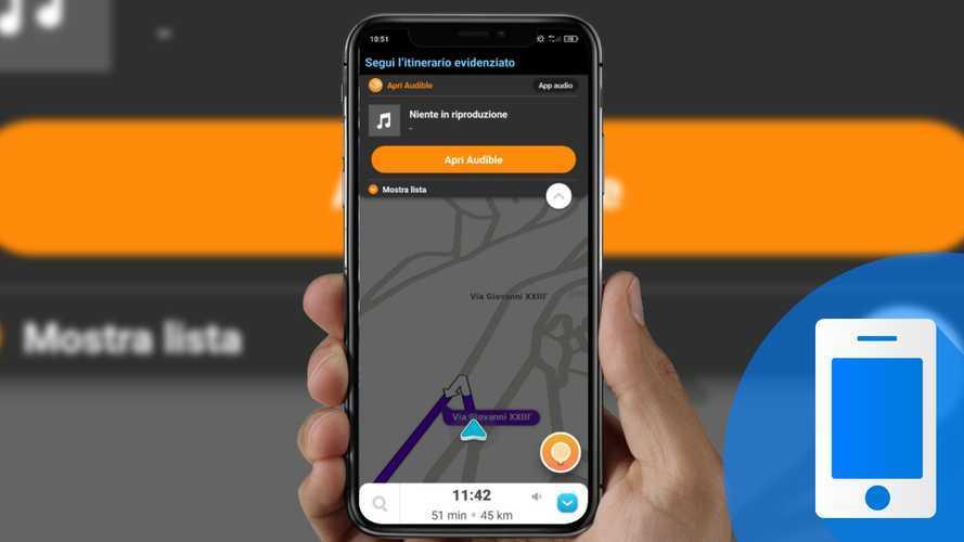Come ascoltare podcast e audiolibri in auto con Waze e Audible