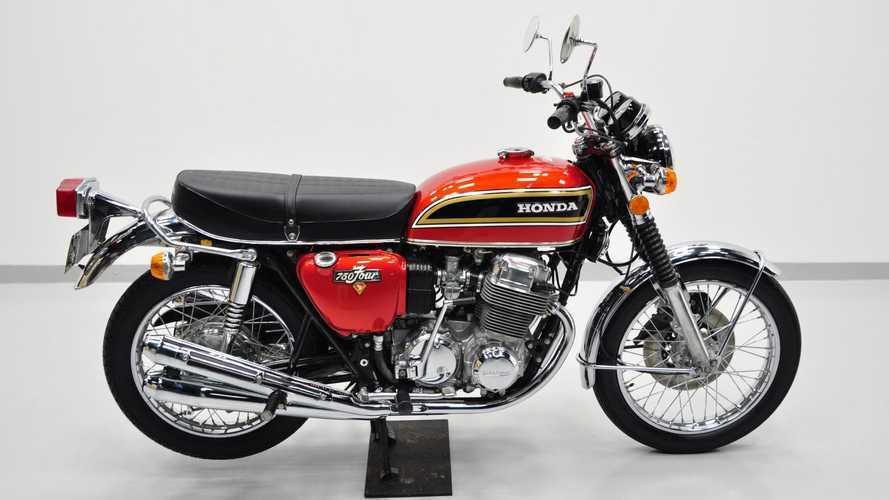 This 1974 Honda CB750 Is An Orange And Black Superbike Stunner