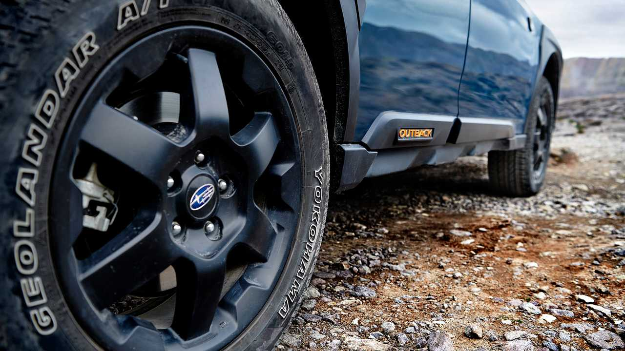 Subaru Outback Wilderness teaser image shows styling.