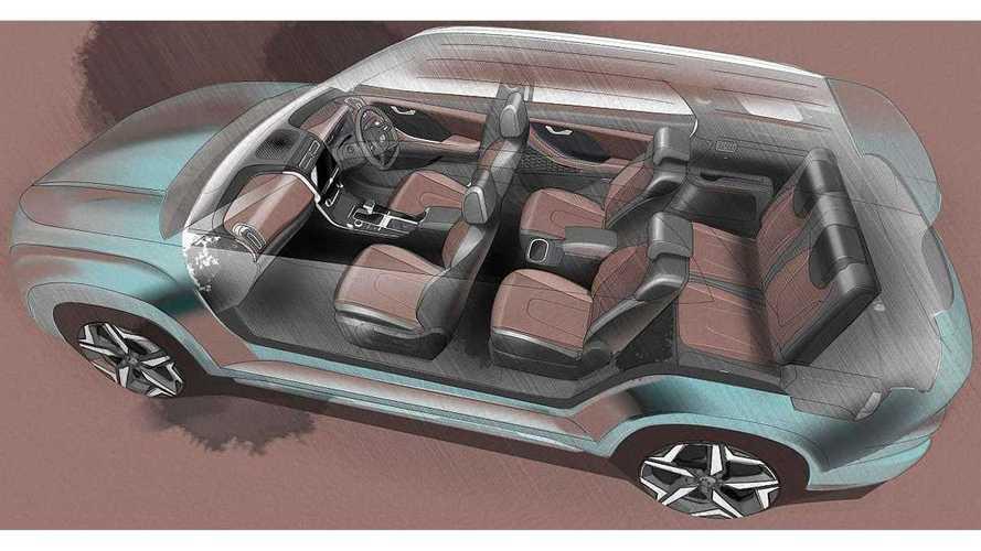 Hyundai Alcazar 2021, teaser oficial